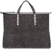 Jimmy Choo Grey Speckled Gable Tote