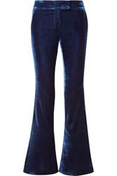 Rachel Zoe Hall Velvet Flared Pants Navy