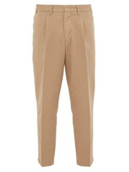 The Gigi Tonga Cotton Twill Trousers Beige