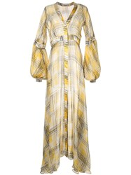Silvia Tcherassi Sheer Maxi Dress Yellow