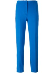 Victoria Beckham Ankle Length Trousers Blue