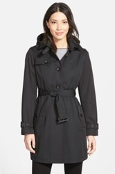 Michael Michael Kors Single Breasted Raincoat Regular And Petite Black
