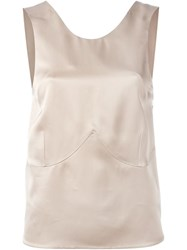 Calvin Klein Collection Tailored Tank Top Nude And Neutrals