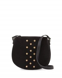 Neiman Marcus Studded Saddle Bag Black
