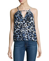 Single Dress Single Printed Tie Back Tank Denim