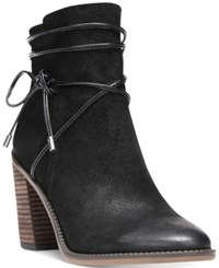 Franco Sarto Edaline Ankle Booties Women's Shoes Black