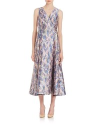 Lk Bennett Sulan Floral Print Midi Dress Multi