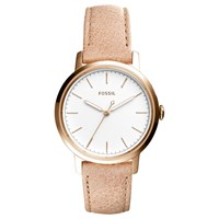 Fossil Es4185 Women's Neely Leather Strap Watch Brown White