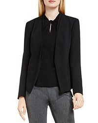 Vince Camuto Collarless Open Front Blazer Rich Black