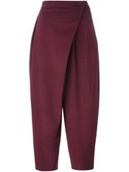Antonio Marras Wrap Tapered Trousers Pink And Purple