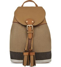 Burberry Checked Mini Backpack Sand