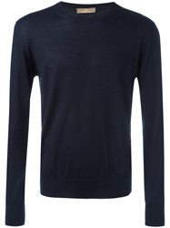 Cruciani Casual Jumper Men Silk Cashmere 58 Blue