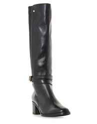 Dune Vivv Leather Knee High Boots Brown