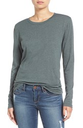 Women's Bp. Long Sleeve Crewneck Tee Grey Urban