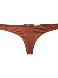 Fleur Du Mal Jersey Thong Women Spandex Elastane Acetate 4 Yellow Orange