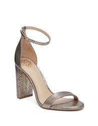 Vince Camuto Mairana Leather Two Strap Dress Sandals Grey