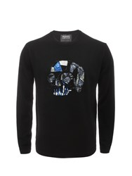 Markus Lupfer Black Skull Geometric Bead And Sequin Thomas Jumper