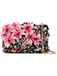 Elie Saab Floral Clutch Women Leather Polyester Pvc One Size Black