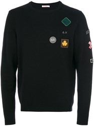 Sun 68 Patch Jumper Cotton Wool L Black