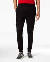 Sean John Men's Big And Tall Cargo Jogger Pants Black