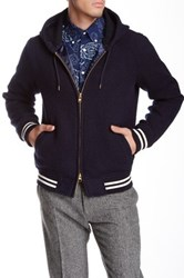 Gant Wool Blend Zip Varsity Jacket