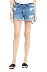 Frame Women's Le Cutoff Frayed Waist Cuffed Denim Shorts