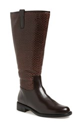 Women's David Tate 'Quest' Embossed Boot Brown Woven