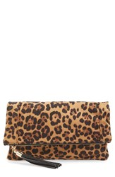 Sole Society Print Foldover Clutch