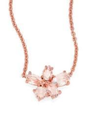 Ippolita Rose Rock Candy Clear Quartz Cluster Pendant Necklace Rose Gold