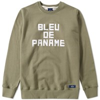 Bleu De Paname Logo Sweat Green
