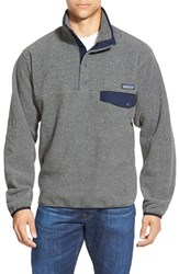 Men's Patagonia 'Synchilla Snap T' Fleece Pullover Nickel Navy Blue