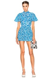 Valentino Star Printed Romper In Blue Geometric Print