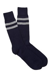 Gant Striped Trim Socks Blue