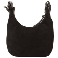 John Lewis Rima Mini Leather Hobo Bag Black