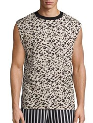 Mcq By Alexander Mcqueen Abstract Printed Sleeveless Tee Black Multicolor