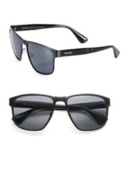 Prada 55Mm Square Wayfarer Sunglasses Black