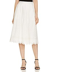 French Connection Josephine Cotton Eyelet Skirt Summer White