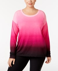 Ideology Plus Size Dip Dyed Top Only At Macy's Sweet Fig Dip