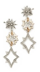 Lulu Frost Cosmic Earrings Silver Clear