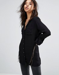 Bolongaro Trevor Breakout Fringed Shirt Black