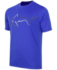 Greg Norman For Tasso Elba Men's Big Shark Performance T Shirt Cobalt Glaze