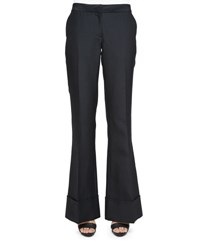 Co Cuffed Wide Leg Pants Black