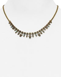 Sorrelli Swarovski Crystal Collar Necklace 16 Multi Gold