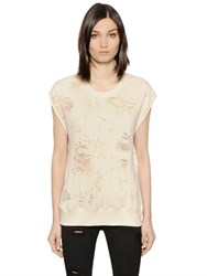 Iro Nuala Distressed Cotton Jersey T Shirt