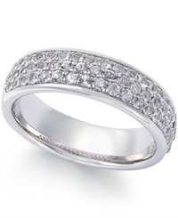 Macy's White Sapphire Ring In Sterling Silver 1 1 6 Ct. T.W.