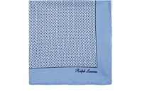 Ralph Lauren Purple Label Dotted Silk Pocket Square Lt. Blue
