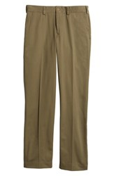 Bills Khakis M3 Straight Fit Vintage Twill Flat Front Pants Olive