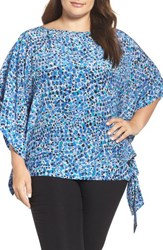 Persona By Marina Rinaldi Plus Size Women's Faro Silk Side Tie Blouse