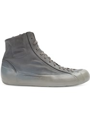 Oxs Rubber Soul Lace Up Hi Tops Men Calf Leather 42 Grey