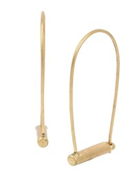 Kenneth Cole Bar Wire Hoop Earrings Gold